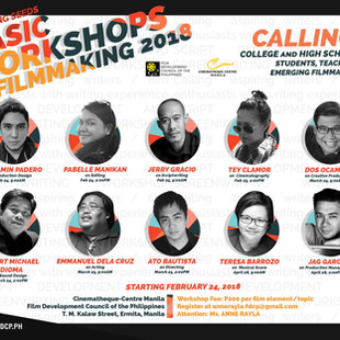 Film Music Workshop on April 28 at Cinematheque Centre Manila