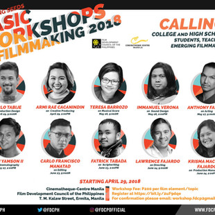 Film Music Workshop on May 26 at Cinematheque Centre Manila