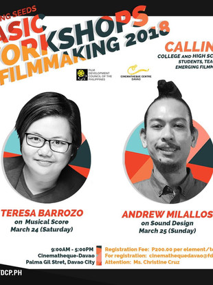 Film Music Workshop at Cinematheque Davao this March