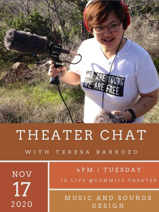 IG LIVE : Theater Chat with Teresa Barrozo