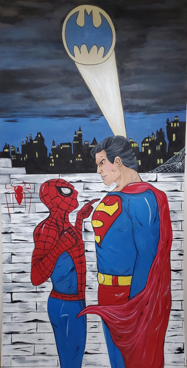 Super hero murals