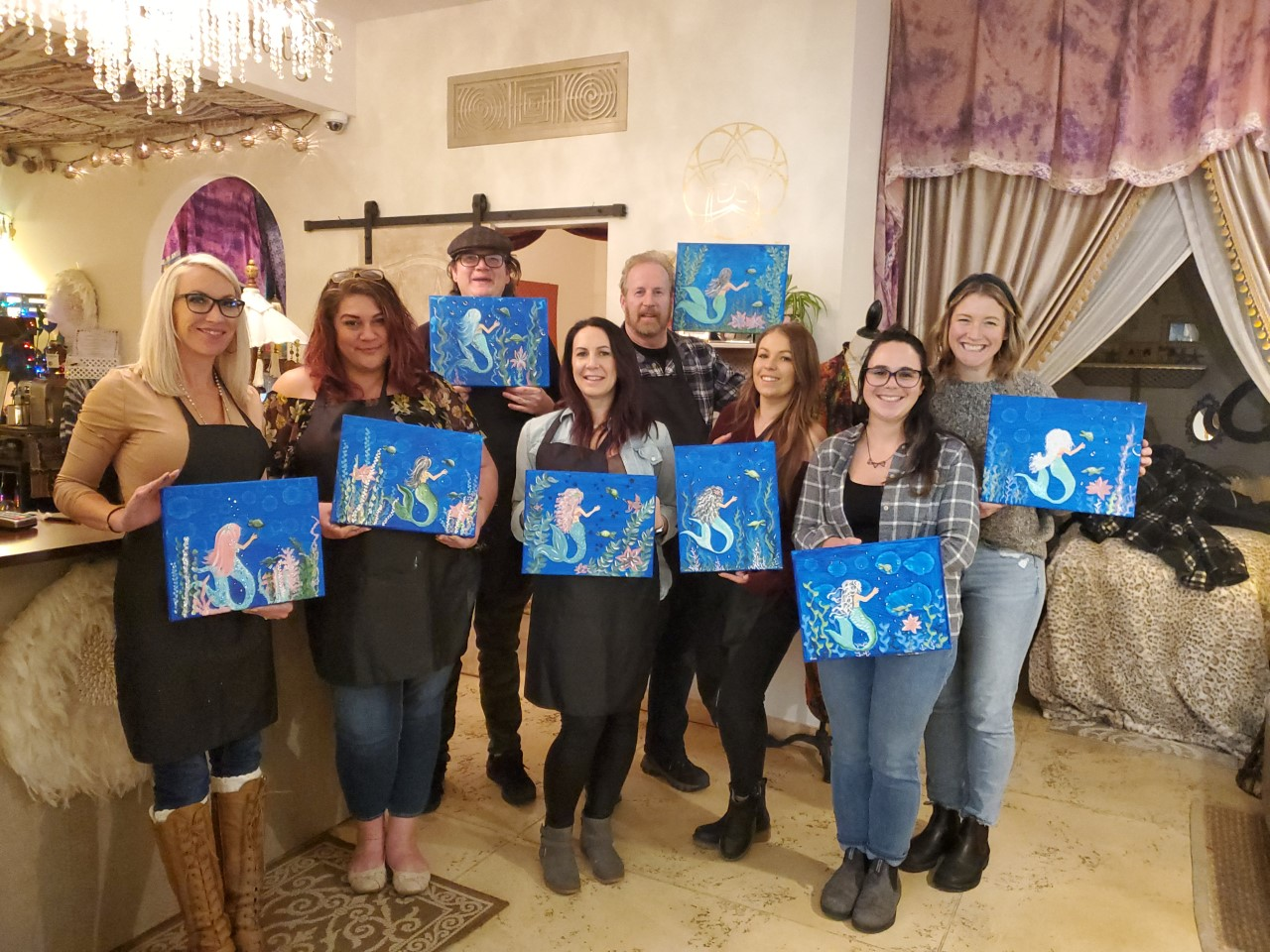mermaid party paint