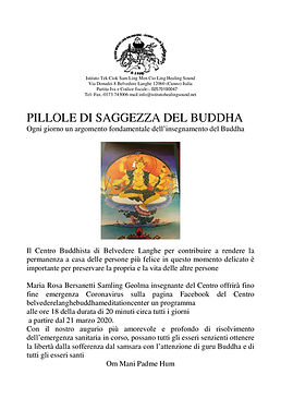 Pilole di Saggezza del Buddha_8_4_20