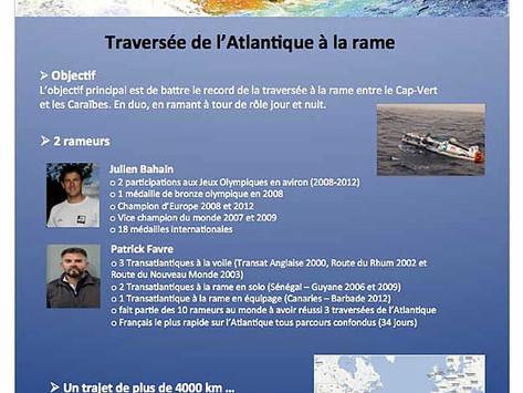 Julien Bahain et Patrick Favre - Projet de traversée de l'Atlantique à la rame
