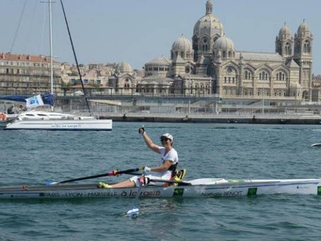 Paris-Lyon-Marseille à la rame avec Nathalie Benoit, le défi réussi