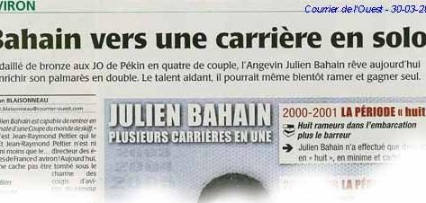 Rameurs à la une - Courrier de l'Ouest 30/03/2010
