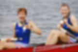 JO Atlanta 1996 - Deux de pointe femmes  Christine Gossé et Hélène Cortin médaillées de bronze