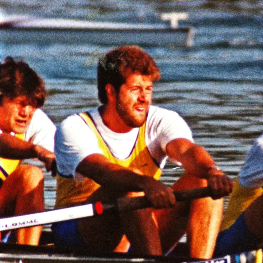 Christian Vandenberghe rameur mantais aux FISA Masters 1994
