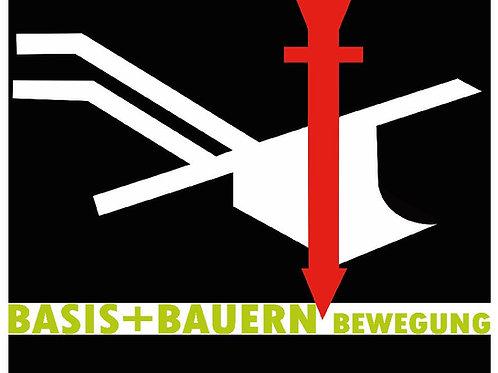 BASIS BAUERN BEWEGUNG BANNER AB 1M PVC