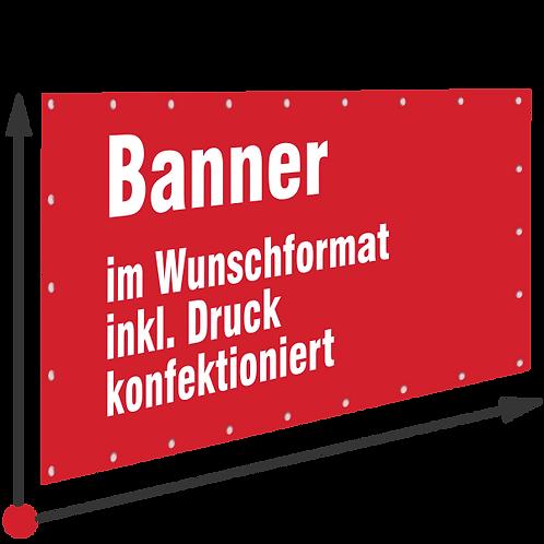 Banner ab 1,20M PVC ODER TEXTILBANNER