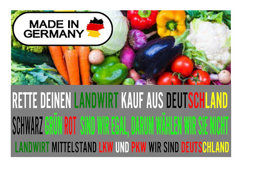 KAUF MADE IN GERMANY ! BANNER AB 1,20M PVC ODER TEXTIL