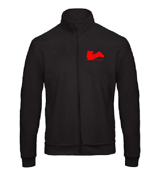 Zipper ohne Kapuze mit Logo 10cm vorn und hinten 30 cm