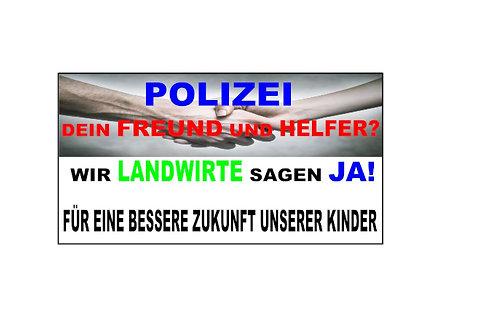 POLIZEI FREUND UND HELFER BANNER AB 1,20M PVC ODER TE