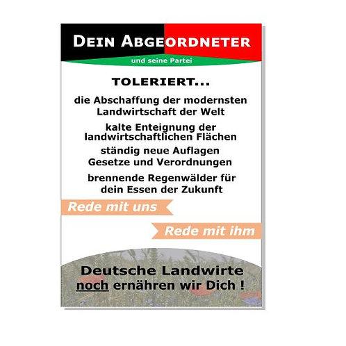 DEIN ABGEORDNETER    NOCH ERNÄHREN WIR DICH ! BANNER AB 1,20M PVC ODER TEXTIL