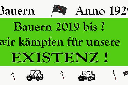BANNER BAUERN KÄMPFEN FÜR IHRE EXISTENZ AB 1,20M PVC