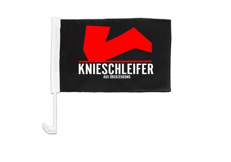 AUTOFAHNE KNIESCHLEIFER MIT LOGO  UND TEXT