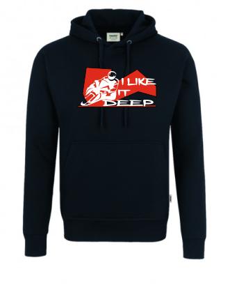 I like it deep No.2 Hoodie mit zweifarbigem Druck