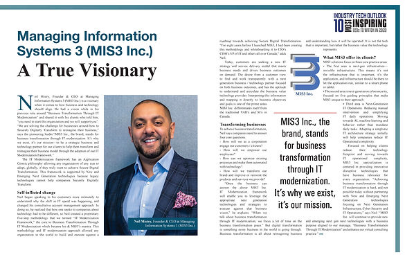 Managing Information Systems 3 (MIS3 Inc