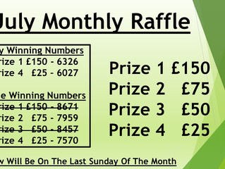 Monthly Raffle - Unclaimed Prizes