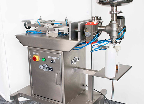Llenadora de productos líquidos y viscosos con tolva
