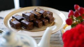 Vegan tahini chocolate bites / ヴィーガン タヒニチョコレート