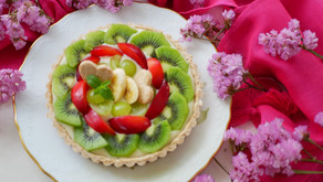 Vegan Fruit Tart  (crispy tart & dairy free custard cream) / ヴィーガン フルーツタルト (さくさくタルトと乳卵不使用カスタードクリーム)