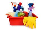 Productos de aseo, guantes, limpieza