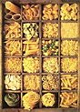 Variedad de pasta, fideo, diversidad