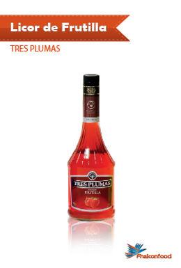 Licor de Mandarina / Frutilla Tres Plumas