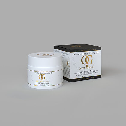 Gold Clay Mask with Manuka Honey and Bentonite Clay
