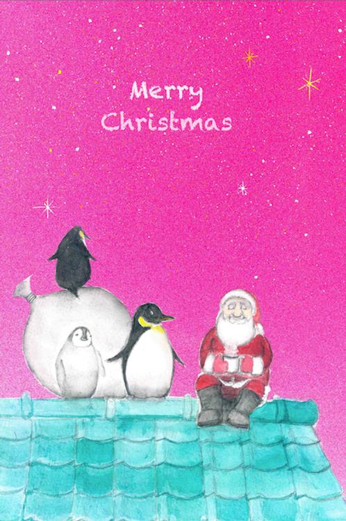 クリスマスカード(ペンギン)5枚