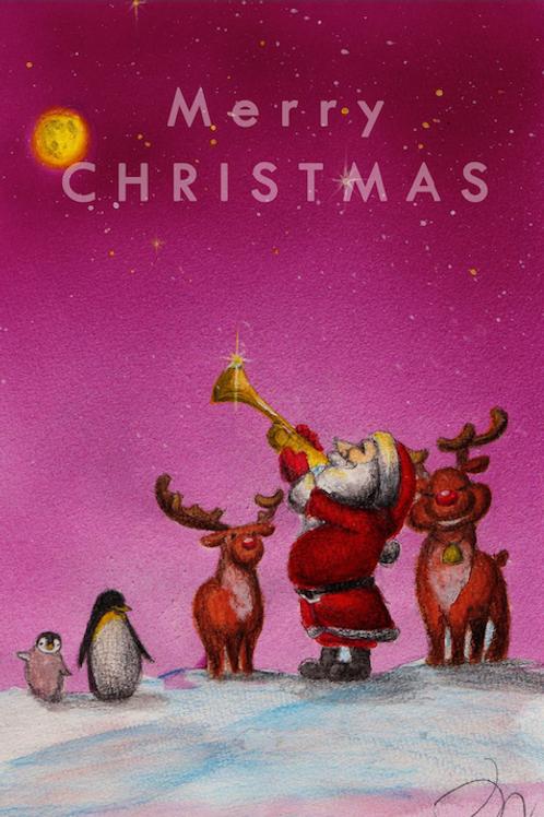 クリスマスカード5枚