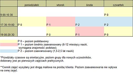 Grafik zajęć