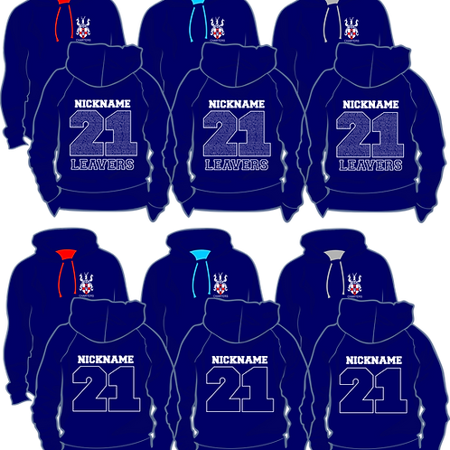 Charters STAFF Hoodie, Navy with contrast colour