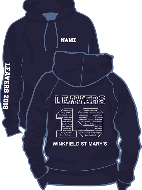 St Mary's Winkfield Hoodie with Name
