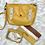Thumbnail: Petit sac bandoulière moutarde en cuir