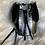 Thumbnail: Sac bourse noir bande cuir gris et python