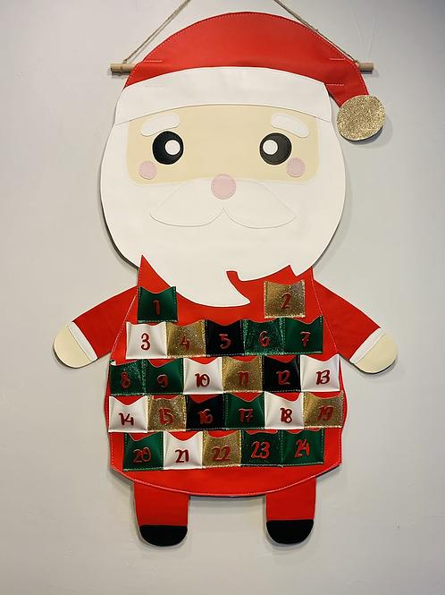 Calendrier de l'avent Noël père Noël
