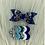 Thumbnail: Barrettes noeud et cœur bleu