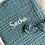 Thumbnail: Protège carnet de santé gaze de coton vert d'eau