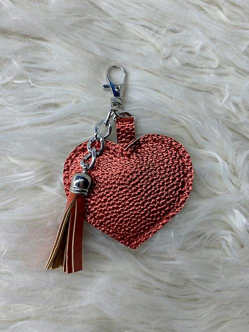 Porte clé cœur rouge