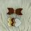 Thumbnail: Barrettes noeud et cœur tons de marron,jaune et doré