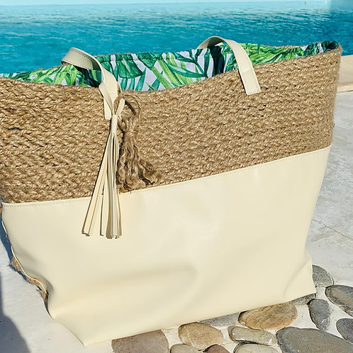 Sac de plage en liner sable & corde
