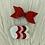 Thumbnail: Barrettes noeud et cœur rouge