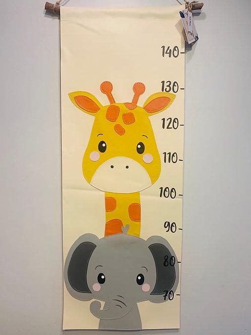 Toise enfant girafe et éléphant