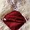 Thumbnail: Doudou lapin Bordeaux et blanc
