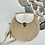 Thumbnail: Petit sac en corde avec rabat en cuir or