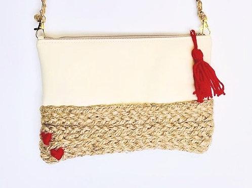 Pochette en liner sable et corde