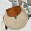 Thumbnail: Petit sac en corde et rabat en cuir chamois