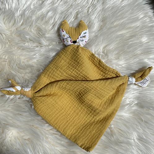 Doudou renard jaune